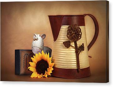 Water Pitcher Still Life Canvas Print by Tom Mc Nemar