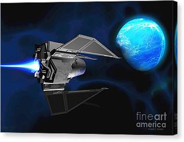 Water Planet Canvas Print by Corey Ford
