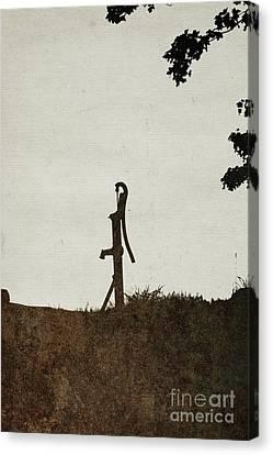 Sepia Vintage Farmhouse Canvas Print - Water Pump by Alison Sherrow I AgedPage