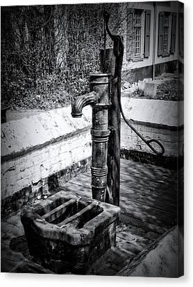 Water Pump Canvas Print by Wim Lanclus
