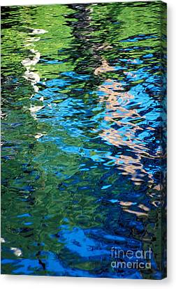 Water Reflections Canvas Print by Bill Brennan - Printscapes