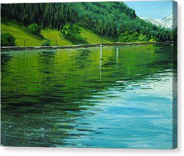 Water Reflections Canvas Print by Nolan Clark