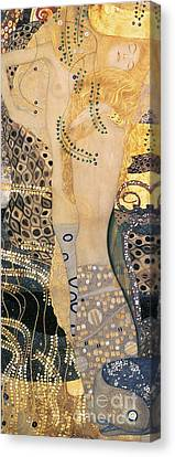 Blond Canvas Print - Water Serpents I by Gustav klimt
