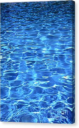 Canvas Print featuring the photograph Water Shadows by Ramona Matei