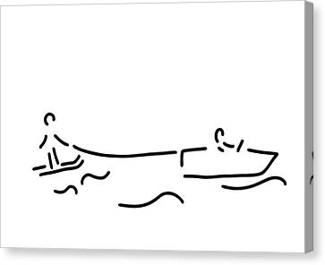 Water-ski Boat Waterski Canvas Print