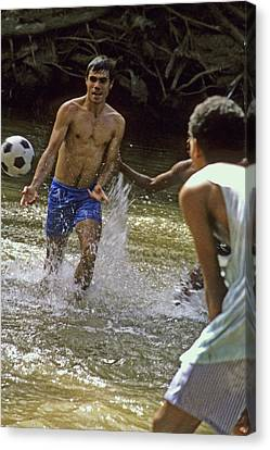 Water Soccer Canvas Print by Gary Wonning