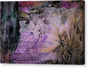 Canvas Print featuring the painting Water Sprite by Mindy Newman