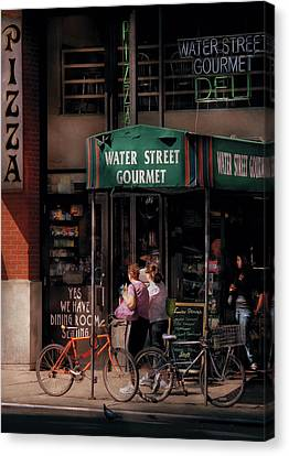 Water St Gourmet Deli  Canvas Print by Mike Savad