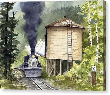 Mountian Canvas Print - Water Stop by Sam Sidders