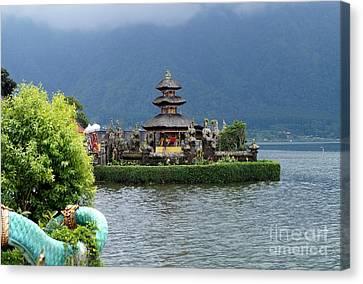 Water Temple Pagoda Canvas Print by Timea Mazug