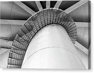 Water Tower Stairs Canvas Print