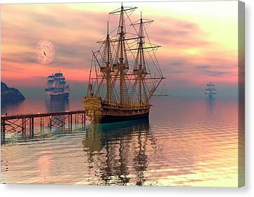 Water Traffic Canvas Print by Claude McCoy