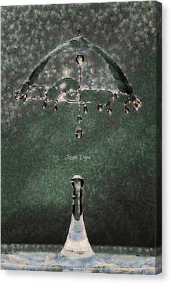 Water Umbrella - Da Canvas Print by Leonardo Digenio