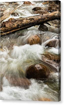 Canvas Print featuring the photograph Water Under The Bridge by Alex Lapidus