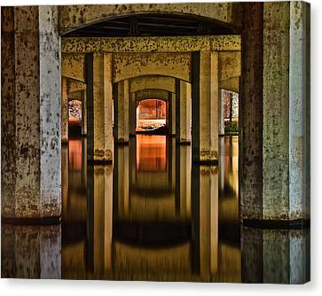 Water Under The Bridge Canvas Print by Frozen in Time Fine Art Photography