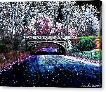 Water Under The Bridge Canvas Print by Iowan Stone-Flowers