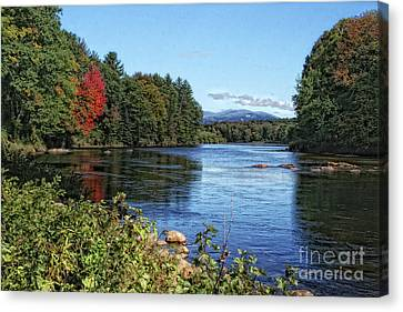 Canvas Print featuring the photograph Water View In New Hampshire by Gina Cormier