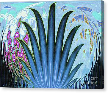 Water World Botanical Canvas Print by Ann Johndro-Collins