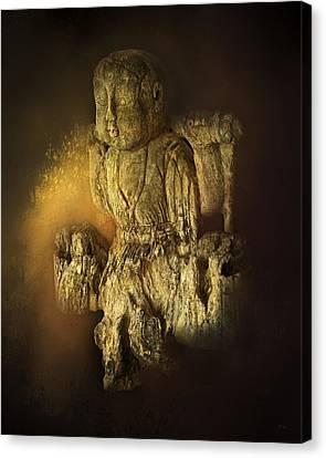 Waterboy As The Buddha Canvas Print by Theresa Tahara