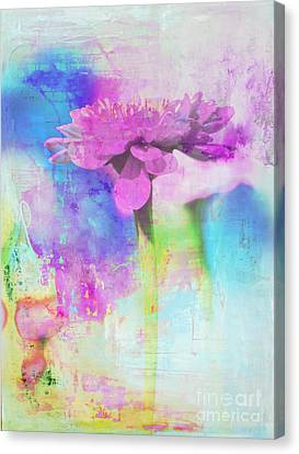 Watercolor Abstract Flower In Purple And Blue Canvas Print by Anahi DeCanio - ArtyZen Studios