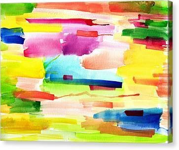 Watercolor Abstract Paintng Canvas Print by My Art