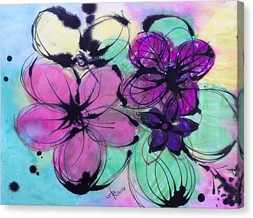 Watercolor And Ink Haiku  Canvas Print