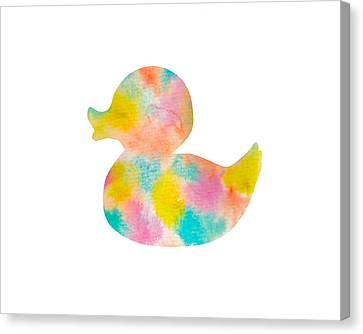 Watercolor Baby Duck Canvas Print