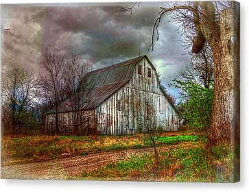 Watercolor Barn 2 Canvas Print