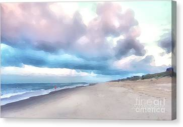 Watercolor Beach Canvas Print
