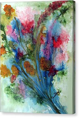 Watercolor Bouquet Canvas Print by Carol Sweetwood