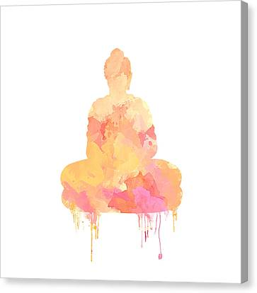 Watercolor Buddha Art Canvas Print by Anita Mihalyi