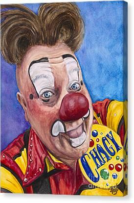 Watercolor Clown #21 Eugenio Adorno Espinell Canvas Print by Patty Vicknair