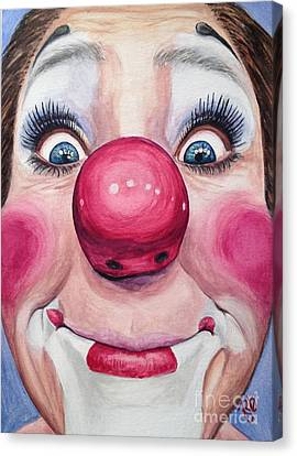 Watercolor Clown #23 Kerry Ringness Canvas Print