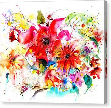 Watercolor Garden II Canvas Print by Isabel Salvador