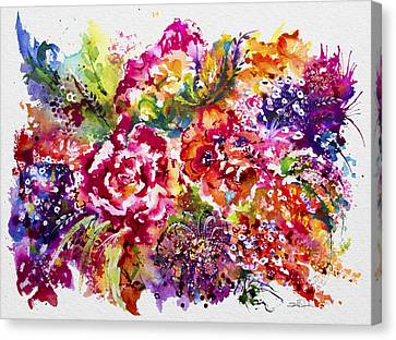 Watercolor Garden IIi Canvas Print by Isabel Salvador