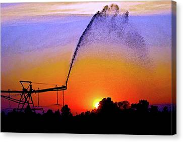 Watercolor Irrigation Sunset 3243 W_2 Canvas Print