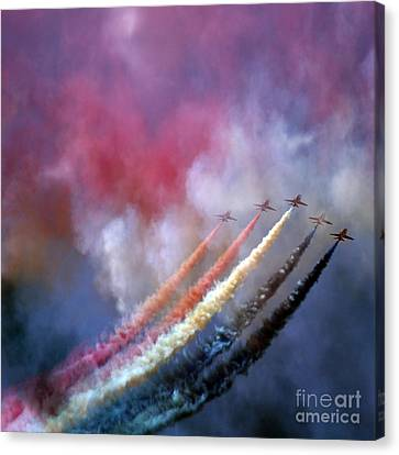 Watercolor On The Sky Canvas Print by Angel  Tarantella
