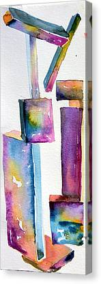 Watercolor Sculpture Canvas Print by Mindy Newman