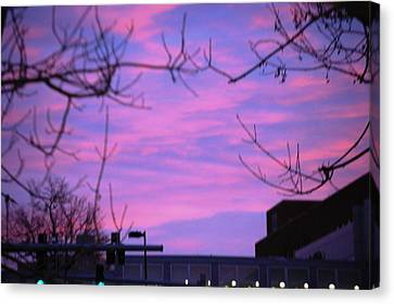 Canvas Print featuring the photograph Watercolor Sky by Sumoflam Photography