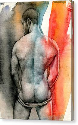 Watercolor Study 6 Canvas Print by Chris Lopez