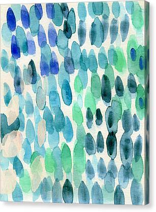 Waterfall 2- Abstract Art By Linda Woods Canvas Print by Linda Woods
