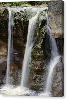 Waterfall Art - Balance Peace And Joy Canvas Print by Jordan Blackstone