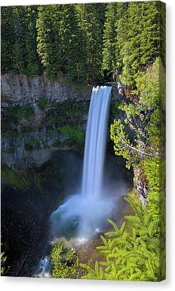 Waterfall At Brandywine Falls Provincial Park Canvas Print by David Gn