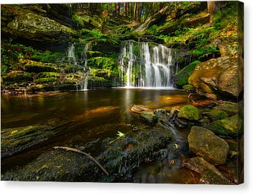 Waterfall At Day Pond State Park Canvas Print by Craig Szymanski
