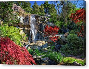 Waterfall At Maymont Canvas Print by Rick Berk