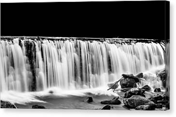 Waterfall At Night Canvas Print by Wayne King