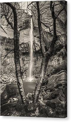 Waterfall At Upper Emerald Pool Canvas Print