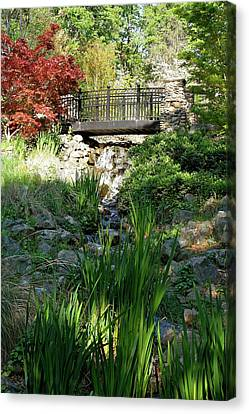 Canvas Print featuring the photograph Waterfall Bridge by Michele Myers