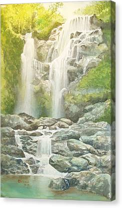 Waterfall Canvas Print by Charles Hetenyi