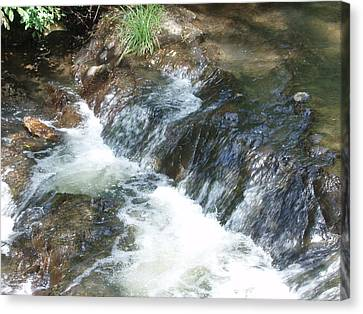 Waterfall Cresendo Canvas Print by Kicking Bear  Productions